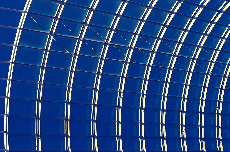 Silver Window with Blue Sky