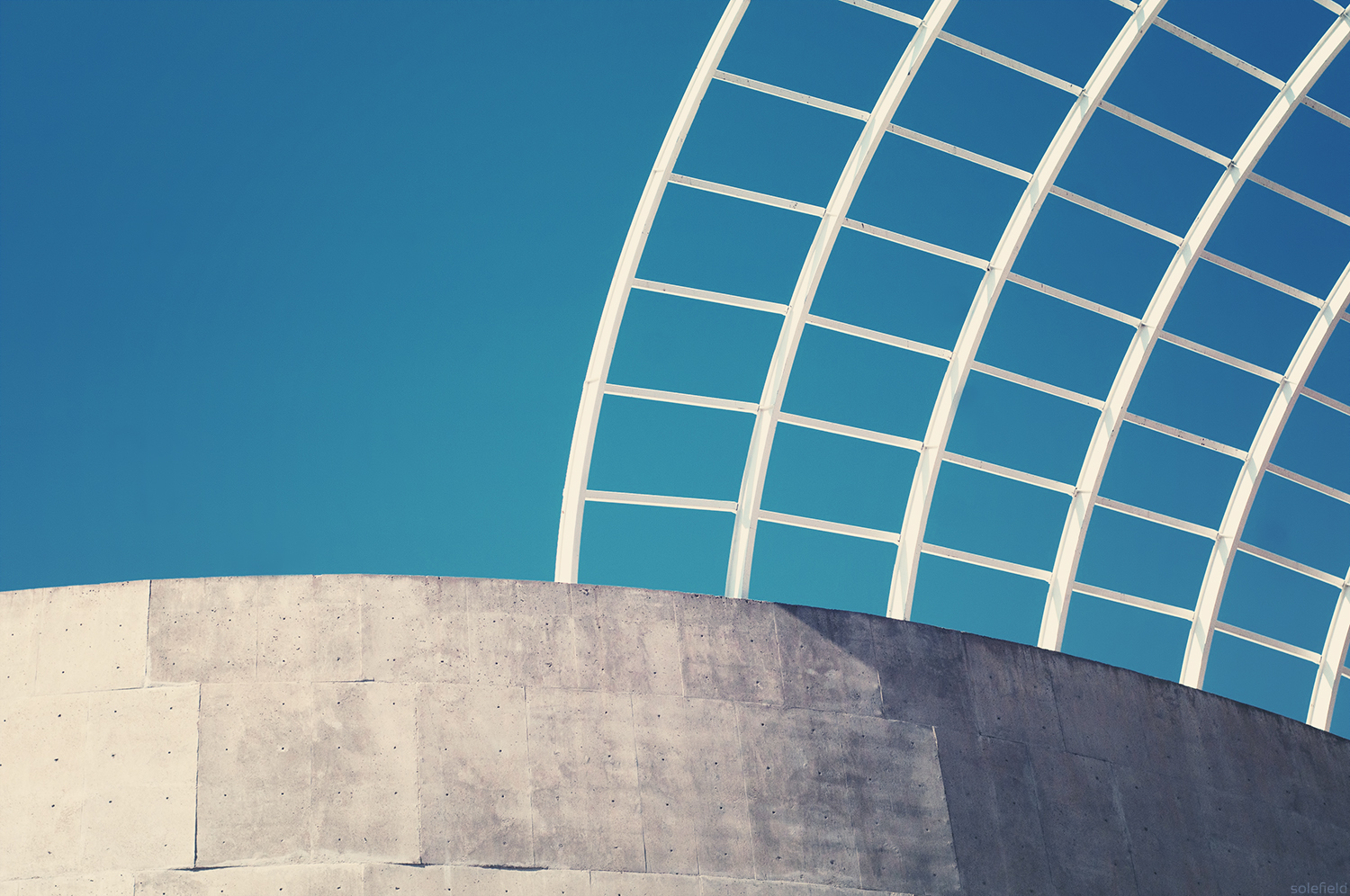 Blue and White Abstract Architecture