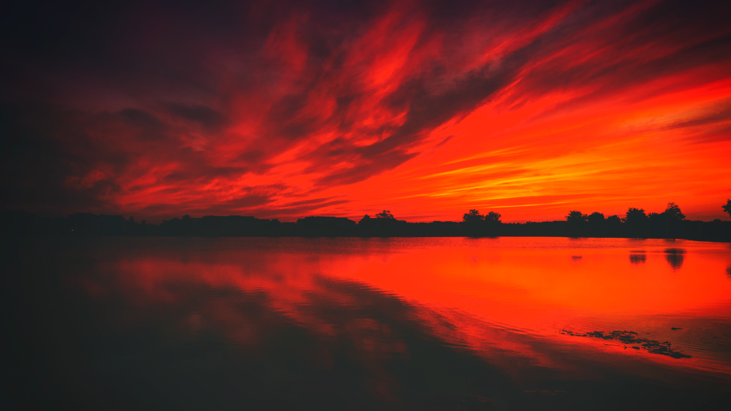 Red Sunset in Florida