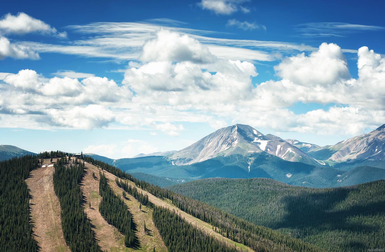 Summer view of Keystone in Colorado