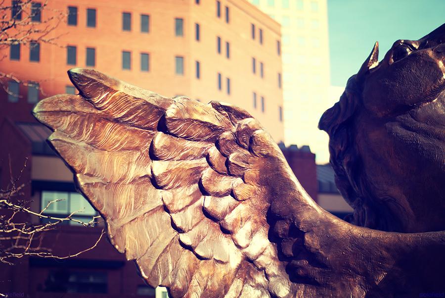 Pegasus Wing Statue