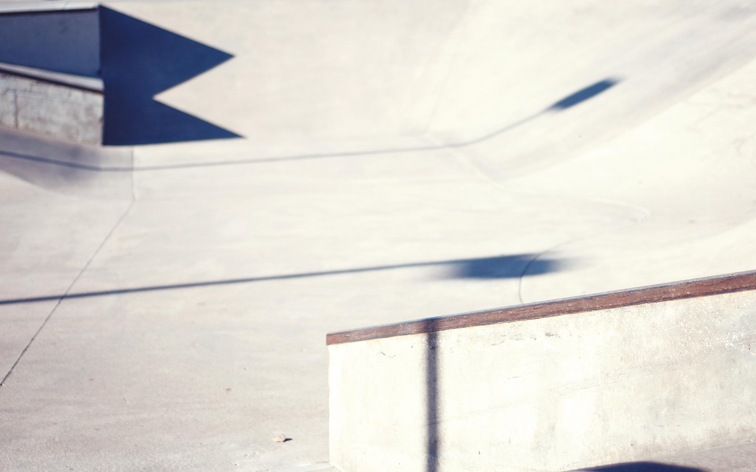 Empty skatepark in winter