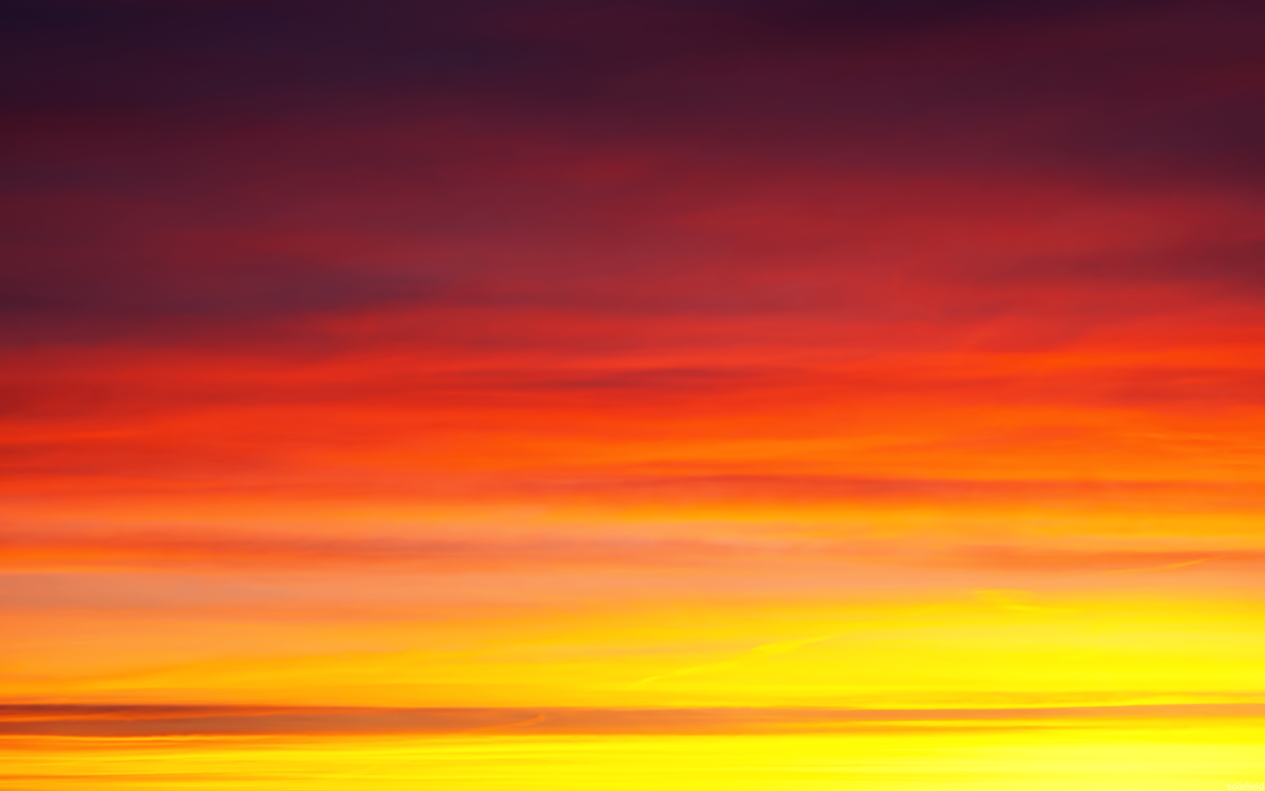 Sunset Sky in Yellow and Red