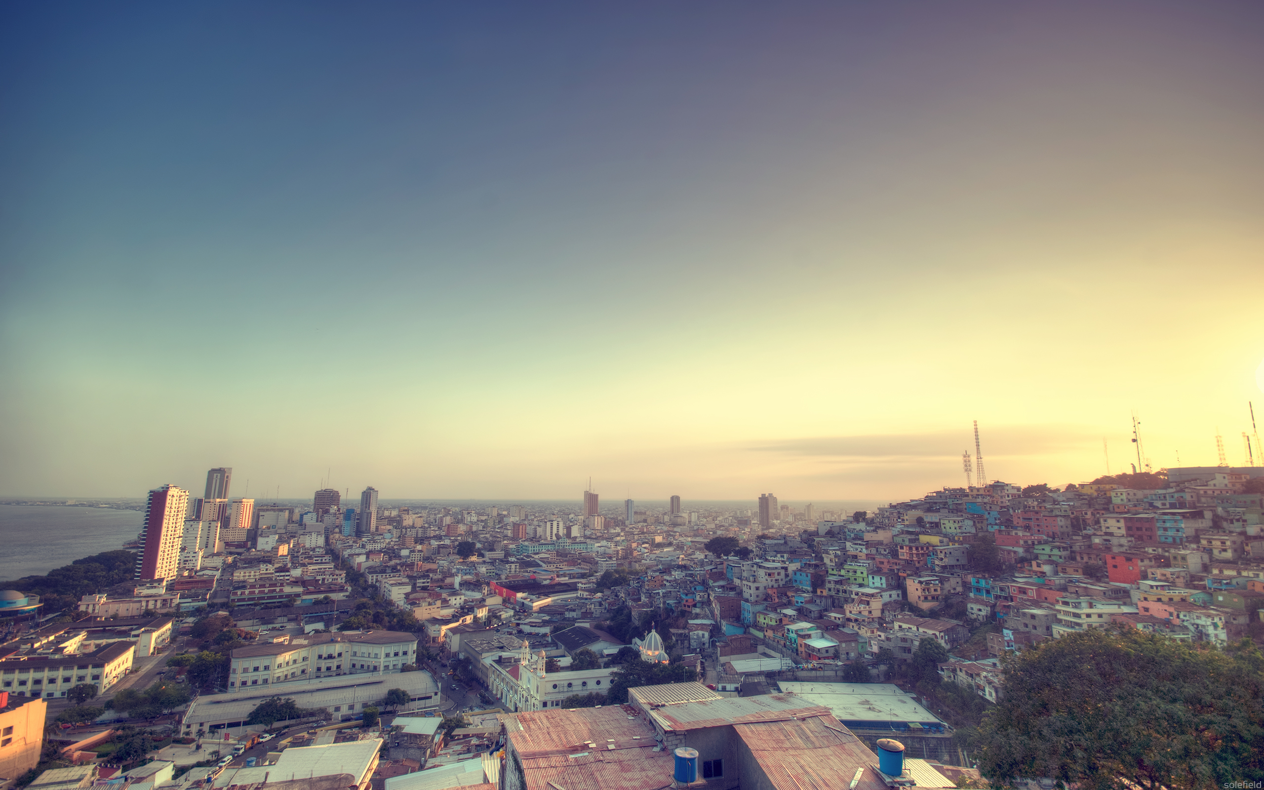 Guayaquil at sunset