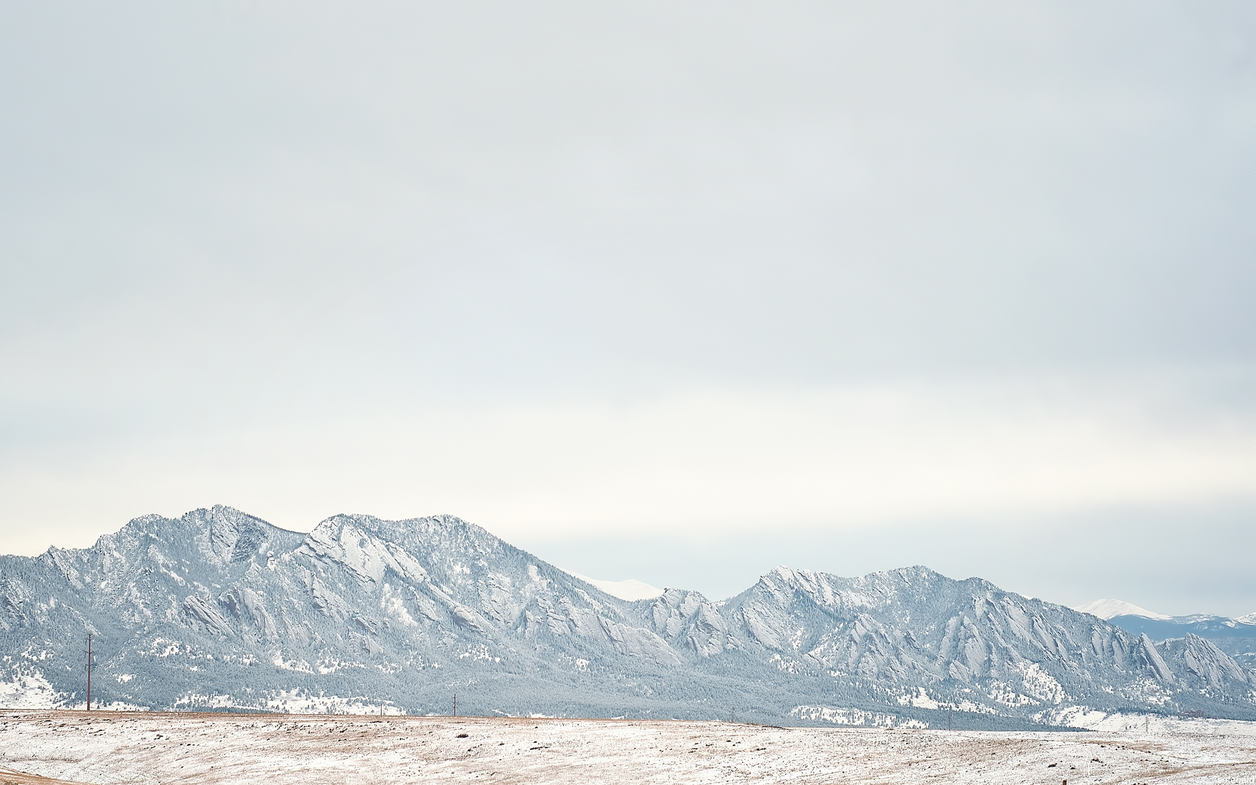 Boulder Foothills Dusted in Snow