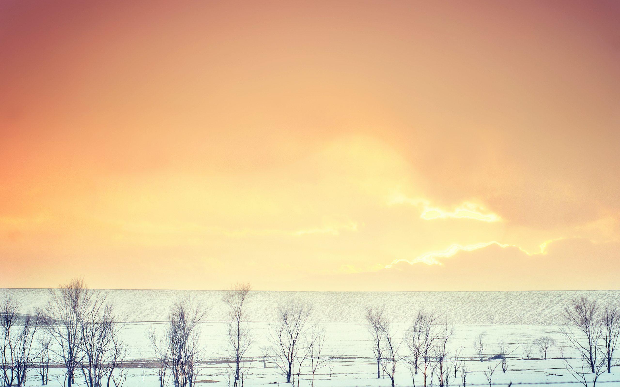 Orange Sky Sunset During Winter