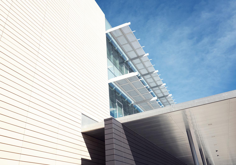 White and Blue Architecture