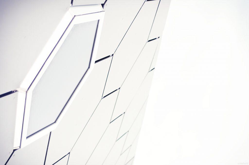 dramatic white architecture window