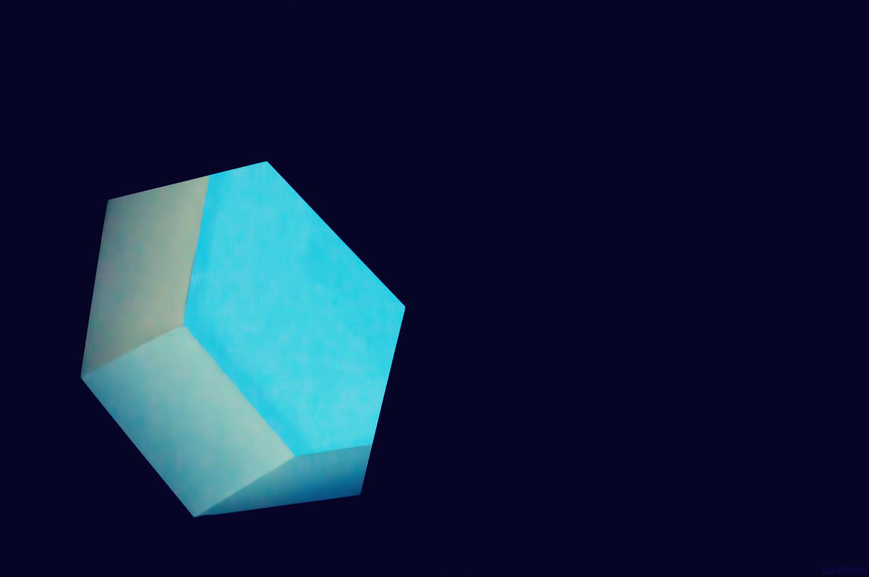 Blue Window in Dark Cieling