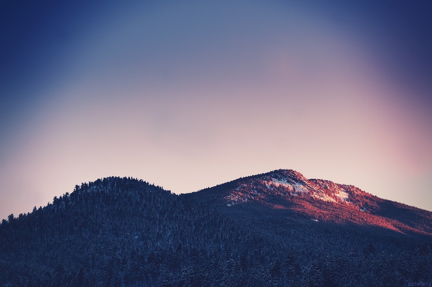 Snow Covered Mountain Sunset
