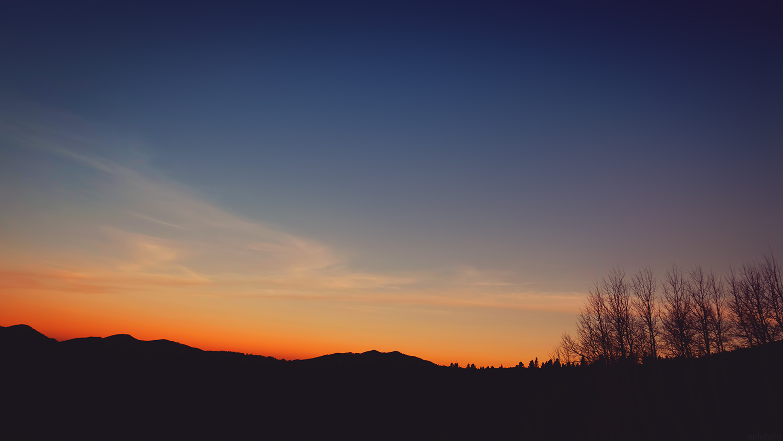 Orange and Blue Dark Sunset in Colorado