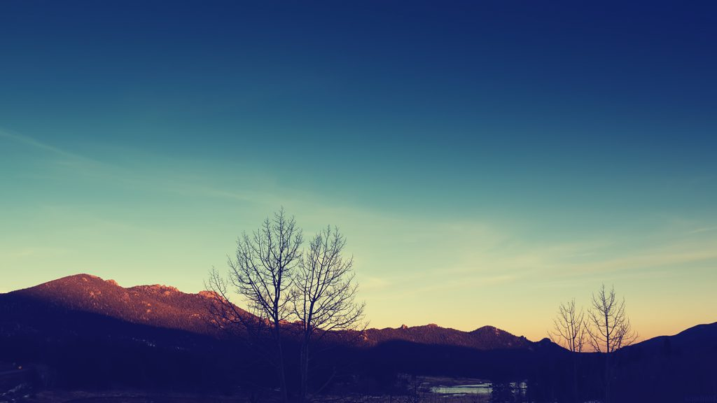 Blue Sunset in Colorado Winter