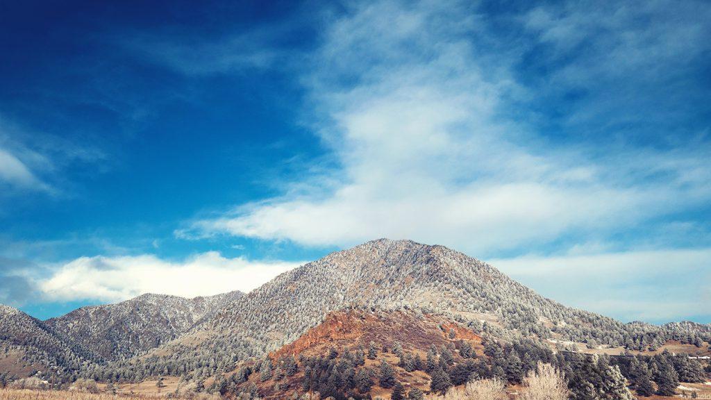 Blue Sky over Wintery Hill
