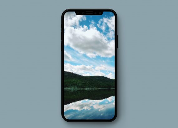 Reflection in Lake iPhone Wallpaper