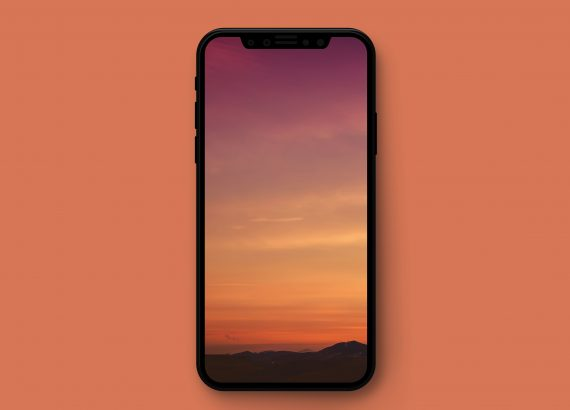 Multicolored sunset iphone wallpaper