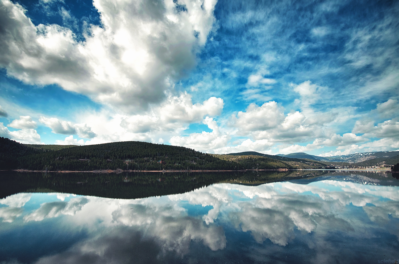 Dramatic Reflection in Colorado Lake