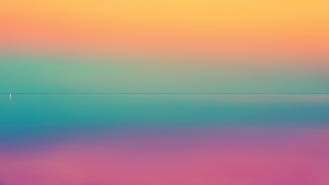 Abstract Sunset Colors Yellow blue pink