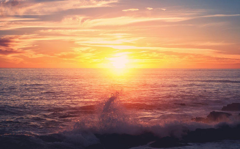 Ocean Sunset in California
